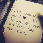 Please! Come back to me