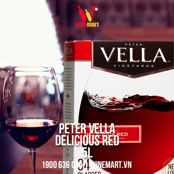 Vang Mỹ Peter Vella Delicious Red 5000ml